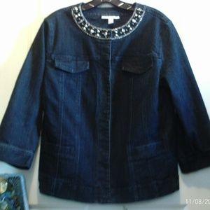 JM Colledtion Denim Jacket Size 12